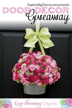 Enter to win a unique creation designed by the amazing talents of Ever Blooming Originals via Inspired by Charm!! http://www.inspiredbycharm.com/2012/04/another-door-decor-giveaway-from-ever.html