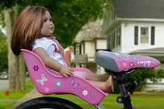 Doll Bicycle Seat - Ride Along Dolly Bike Seat with Decorate Yourself Decals (Fits 18 American Girl and Standard Sized Dolls and Stuffed Animals) New Bicycle, Bicycle Seats, Child Doll, Girl Dolls, Dolly Doll, Ride Along, Sewing Patterns Girls, Bikes For Sale, Kids Bike
