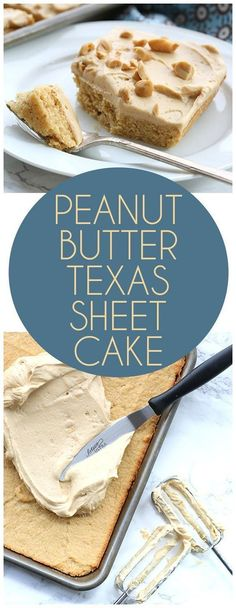 Go to your kitchen right now and make this low carb Peanut Butter Sheet Cake. With a cream layer of sugar-free peanut butter frosting, it's a peanut lover's dream dessert. Peanut Butter Sheet Cake, Low Carb Peanut Butter, Peanut Butter Desserts, Cashew Butter, Low Carb Desserts, Cookie Desserts, Easy Desserts, Delicious Desserts, Yummy Food