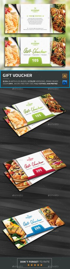 Buy Gift Voucher by themedevisers on GraphicRiver. Modern Gift Card / Gift Certificate This Gift Voucher Card is best suitable for promoting your business, product or . Gift Card Template, Gift Certificate Template, Certificate Design, Gift Voucher Design, Gift Box Design, Business Postcards, Discount Vouchers, Gift Vouchers, Coupon Design