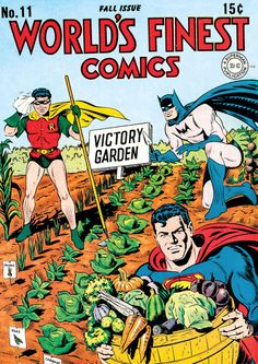 World's Finest Comics #11 (1943), cover by Jack Burnley