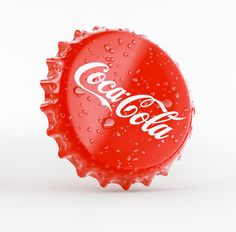 3D visualization, coca cola, bottle cap