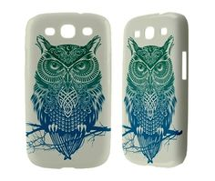 Samsung Galaxy S3 Case Owl Samsung Galaxy S2 Ace Siii Sii S 3 iii ii i9100 Nexus i9250 Infuse i9000 Skyrocket Owl Phone Case Cover Cool Blue. $17.00, via Etsy.