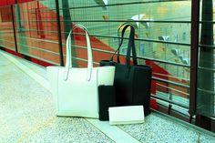 Valkoista tai mustaa! Tutustu Espritin uusiin laukkuihin täältä: http://www.bebag.fi/esprit