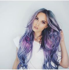 Mermaid hair! Light blues, pink, purple, silver. Long and layered hairstyles.   o   #colorfulhair #mermaidhair #bluehues #purplehues #colorenvy #voluminoushair #colorfordays #innermermaid #mermaidvibes #hairgoals #hairootd #hairenvy #hairheaven #hairfirst #haireverything #perfecthair #hairwants #hairneeds #hairessentials #everydayhair