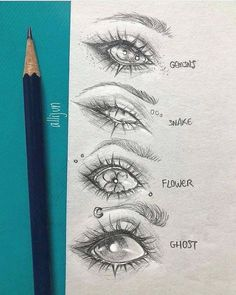 I'm going to share 12 inspiring ideas for drawing human eyes and even some animation … Easy Pencil Drawings, Easy People Drawings, Easy Doodles Drawings, Pencil Sketch Drawing, Easy Doodle Art, Sketches Of People, Drawing Base, Drawing People, Drawing Tips