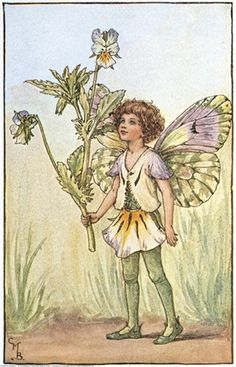 ≍ Nature's Fairy Nymphs ≍ magical elves, sprites, pixies and winged woodland faeries - Cicely Mary Barker - The Heart's Ease Fairy
