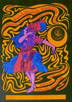 Poster by Moscoso, 1966, Avalon Ballroom.