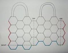 Bolso con hexagonales con estrella