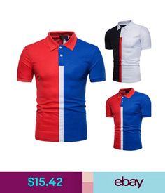 8e306e5aa $13.33 - Short Slim Fit Polo Shirts Casual Golf T-Shirt Sleeve Tee Tops  Jersey