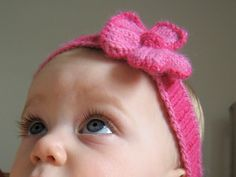 """I'd Rather Be Knitting: """"Spring"""" Baby Headband"""