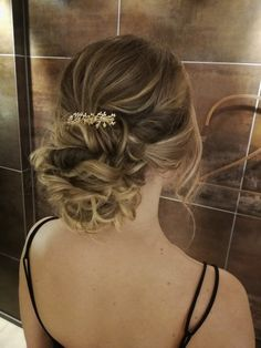 #updo #romanticupdo #hairdo #lowupdo #bohoupdo #promhair #partyhair Boho Updo, Romantic Updo, Party Hairstyles, Prom Hair, Updos, Backless, Formal, Dresses, Fashion
