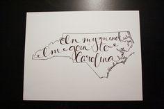 North Carolina Goin' to Carolina Print by LauraFrancesDesigns