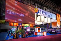 The giant #videowall used for Spielo's exhibit at G2E 2012