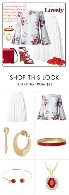 """SUMMER CHIC"" by arjanadesign ❤ liked on Polyvore featuring Vince, Prada, WithChic, Ralph Lauren, Kate Spade, Nadine S, R.H. Macy's & Co., valentino and summer2017"