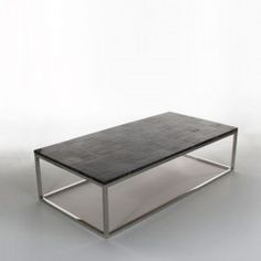CALLOUS BLACK table, top in black petrified wood on chrome base #Cravt #Original #Craftsmanship #Living #Furniture #Luxury #Interior #Coffee #Tables #Petrified #Wood