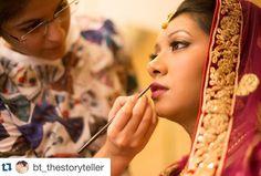 #Repost @bt_thestoryteller with @repostapp.  Touch to perfection  #bride #bridalmakeup #indianwedding #indianbride #bigfatwedding #candidweddingphotography #candidphotography #weddingday #wedding #makeupartist #marriage by makeupbyshriyapardal