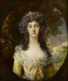 Thomas Gainsborough, Portrait of Mrs. Charles Hatchett,1786