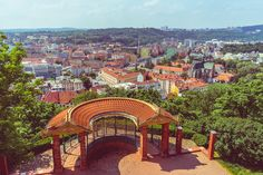 A view from the southwest wall of Špilberk Castle in Brno, Czech Republic – Ben Finch Amazing Buildings, European Countries, Czech Republic, Wander, Castle, Mansions, House Styles, Wall, Travel