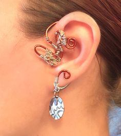 Copper and Cogs  Wrap Ear Wrap  Left Ear by MelsMakeBelieve