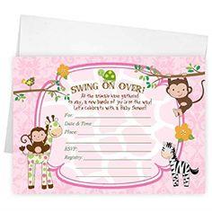 Amazon Monkey Baby Shower Invitations