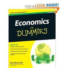 Economics For Dummies: Sean Masaki Flynn: 9780470879481: Amazon.com: Books