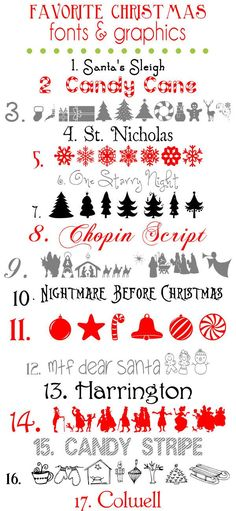 Freebie | 17 Christmas Fonts and Graphics – Scrap Booking