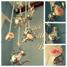Just Darling: Decor with silverware  www.justdarlingblogger.blogspot.com French Country House, Craft Projects, Craft Ideas, Wall Lights, Pretty, Silver, Handmade, Crafts, Home Decor