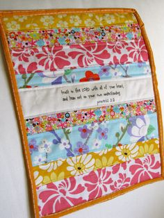Proverbs 35 scripture mini quilt quilted by myfivelittlepeppers - love the combo of quilt and quote