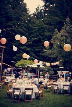 outdoor reception look