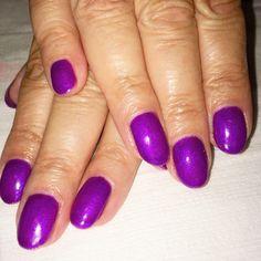 Purple shimmer gel polish. China Glaze Gelaze