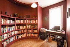 """""""Book nook in a South Harlem four-bedroom maisonette."""""""