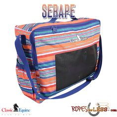 Buy Classic Equine Boot Coral Serape Accessory Tote Bag Orange Turquoise Horse Tack at online store Equestrian Gifts, Equestrian Outfits, Equestrian Style, Equestrian Fashion, Horse Boots, Horse Tack, Horse Gear, Classic Equine, Diaper Bag