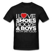 Nix the shoes part. I DO love booze & boys with tattoos though. ;)