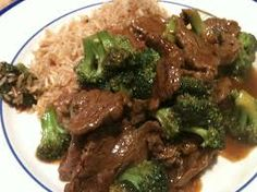 BEEF and BROCCOLI  P.F. Chang's China Bistro Copycat Recipe   Serves 4   3/4 pound flank steak, sliced very thin and against the grain ...