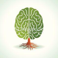Vector Art : brain shape tree
