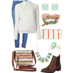 A fashion look from February 2015 featuring Tory Burch sweaters, True Religion jeans and Office ankle booties. Browse and shop related looks.