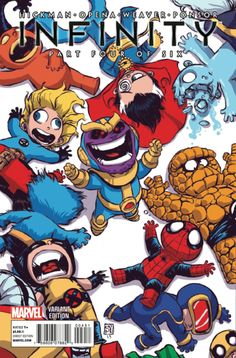 Infinity 4 Little Marvel variant by Skottie young. Marvel Comics, Chibi Marvel, Marvel Vs, Marvel Heroes, Comic Book Characters, Marvel Characters, Comic Books Art, Comic Art, Skottie Young