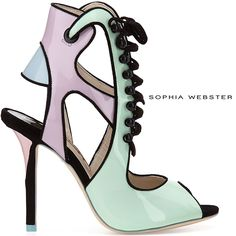 Sophia Webster Mel Fall 2014 Lace-Up Cut Out Sandals - Buy Online - Designer Cutout, Sandals