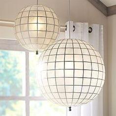 Ceiling Lights, Ceiling Light Fixtures & Ceiling Lighting | PBteen faceted capiz pendant 99-149