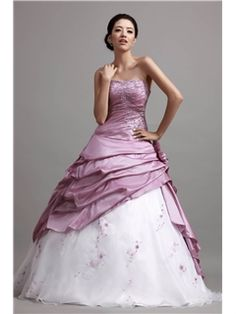 A-Line Strapless Floor-Length Empire Waistline Ruched Cibeles's Ball Gown/Quinceanera Dress