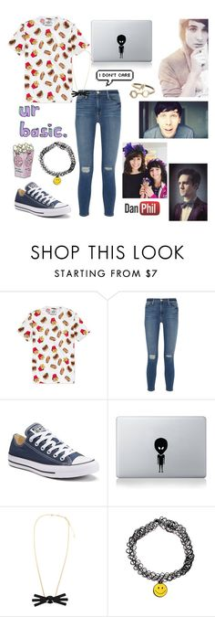 """k go"" by cassidy2928 ❤ liked on Polyvore featuring American Rag Cie, Frame Denim, Converse and Vinyl Revolution"