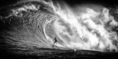 Captivating Black and White Pictures of Surfers in Hawaii