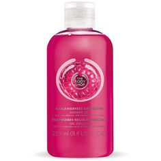 Early-Harvest Raspberry Shower Gel (990 MXN) ❤ liked on Polyvore featuring beauty products, bath & body products, body cleansers, fillers, makeup and the body shop