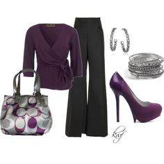 Purple & Gunmetal.  Love everything about this <3