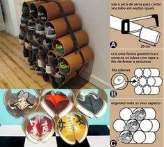 Diy home decor Diy Shoe Storage, Diy Shoe Rack, Wall Color Combination, Diys, Diy Casa, Rack Design, Diy Organization, Diy Kits, Decoration