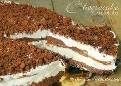 Cheesecake sbriciolata alla nutella, dessert freddo, torta gelato, alla nutella, senza cottura in forno, senza gelatina. Ricetta facile, con philadelphia
