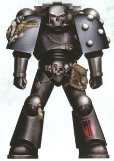 Executioners Death-Speaker (Chaplain) in Artificer Power Armour. Warhammer 40k Rpg, Warhammer Models, Warhammer 40k Miniatures, Marine Colors, Armored Core, Imperial Fist, Wimpy Kid, Angel Of Death, The Grim