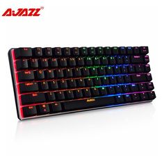 Cheap keyboard blue switch, Buy Quality blue switch directly from China illuminated gaming keyboard Suppliers: Ajazz 82 keys USB Wired Russian/English Keyboard RGB Backlight Multimedia Ergonomic illuminated Gaming Keyboard Blue Switch Keyboard Keys, Keyboard Typing, Multimedia, Gaming Accessories, Hardware, Games, Stuff To Buy, Tablet Computer, Products