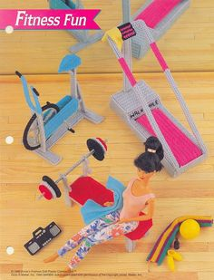 Plastic Canvas Pattern Fashion Doll Fitness Fun by prettypelican, $8.00